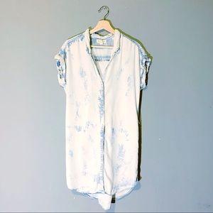 Cloth & Stone | Dress Shirt Short Sleeve Bleach M